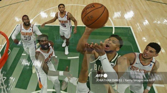 JADWAL Final NBA 2021 Suns vs Bucks Game ke-4 Kamis 15 Juli 2021 Tayang di Vidio.com