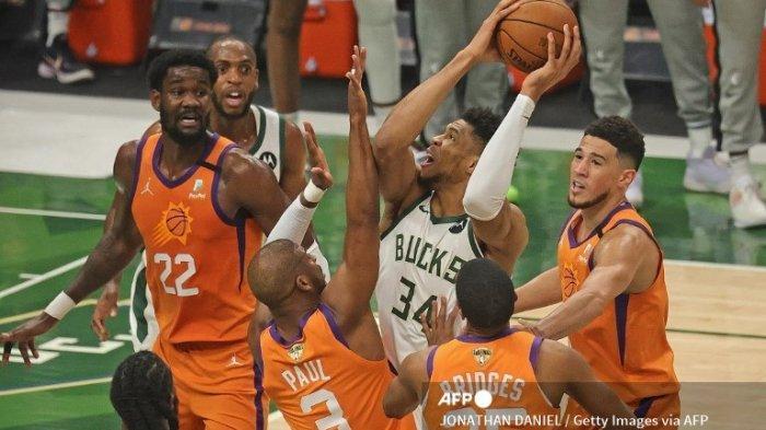 Jadwal Final NBA 2021 Suns vs Bucks, Giannis dan Middleton Jadi Kunci Kemenangan Bucks