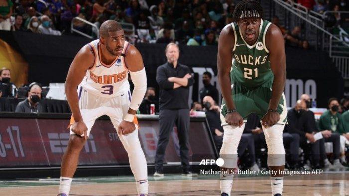 Jadwal Final NBA 2021 Suns vs Bucks, Tekad Chris Paul Hentikan Giannis Antetokounmpo