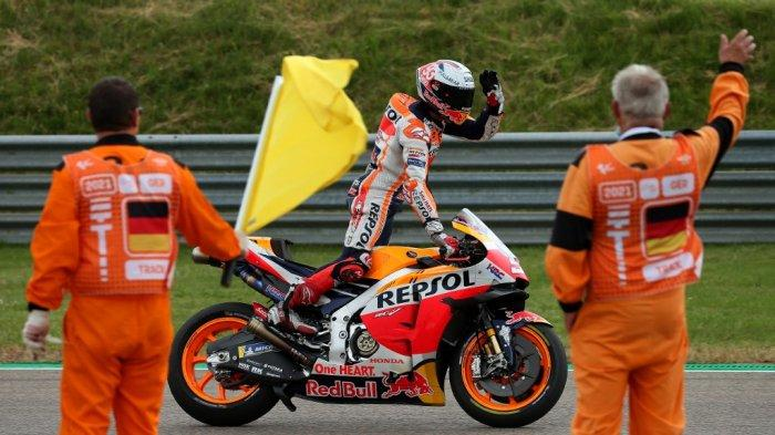 Jelang MotoGP 2021 Aragon, Marc Marquez Meluncur ke Sisi Luar Trek di FP2