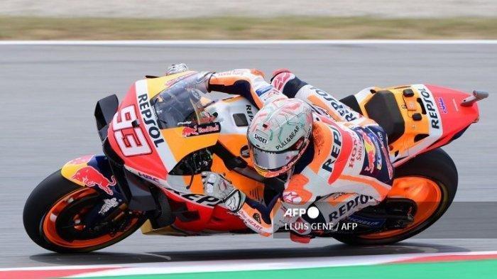Ilustrasi. Simak jadwal MotoGP Styria 2021, pengembangan yang dilakukan Honda pada sasis RV213V membuat Marc Marquez yakin menghadapi paruh kedua kejuaraan dunia MotoGP 2021.