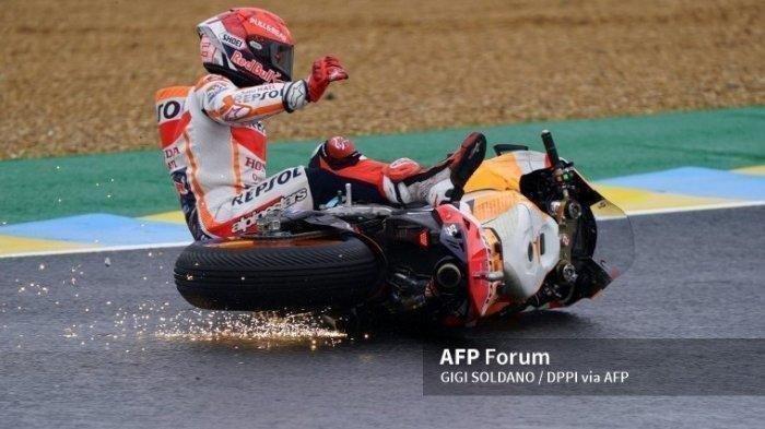 JADWAL MotoGP 2021 Jerman, Marc Marquez Gagal Finish di 3 Seri Terakhir
