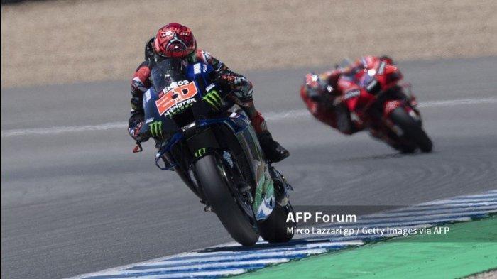 Ilustrasi Fabio Quartararo saat di MotoGP Spanyol 2021. Jelang jadwal MotoGP Prancis 2021, Fabio Quartararo siap bangkit dan sambut seri kelima MotoGP musim ini di kandang sendiri.