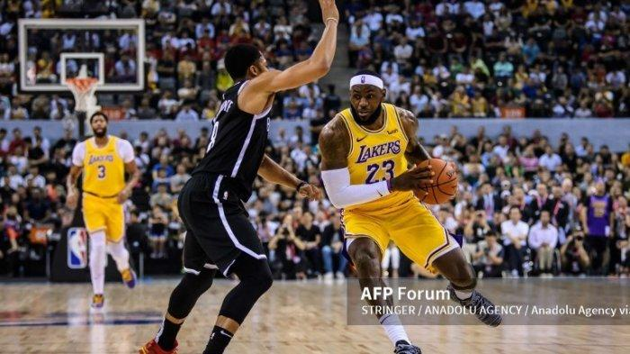 Jadwal NBA 2021-2022 LA Lakers vs Brooklyn Nets, Senin 4 Oktober 2021