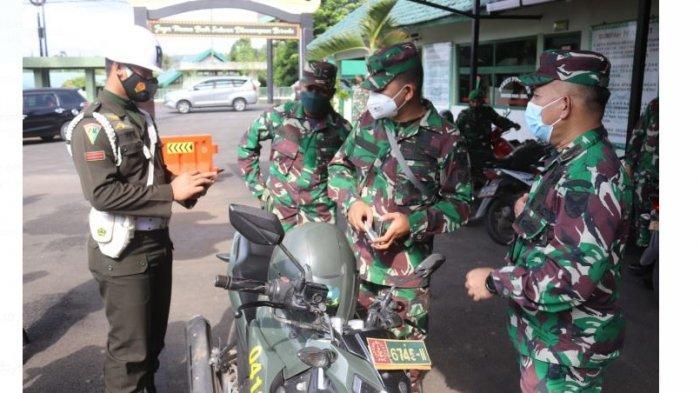 Tertib Lalu Lintas, Denpom II/1-3 Lampung Gelar Sosialisasi di Makodim 0410/KBL