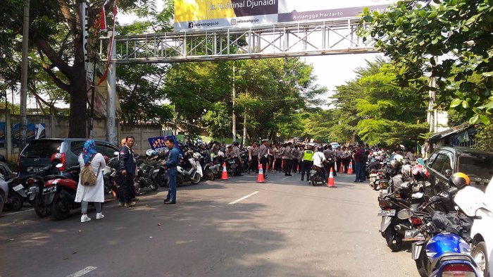 Rapat Pleno Rekapitulasi Suara Pilgub Lampung 2018, Jalan Gatot Subroto Ditutup