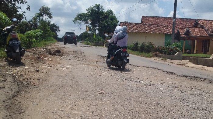 Puluhan Tahun Ruas Jalan Provinsi di Adiluwih Rusak