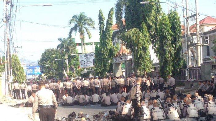 Hindari Jalan Sudirman, Polisi Tutup Jalan Ada Sidang Bawaslu Lampung