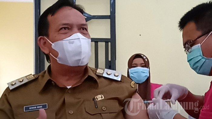 Jalani Vaksinasi Covid-19 Perdana di Lampung Timur, Bupati: Ngga Sakit Kok