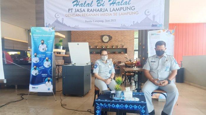 Jasa Raharja Lampung Gelar Acara Halal Bi Halal Bersama Rekanan Media Se Lampung