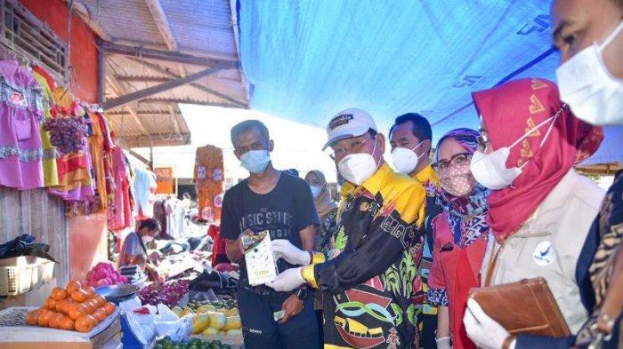 Jelang Lebaran, Bupati Saply dan Loka Pom Tulangbawang Gelar Sidak di Sejumlah Pasar Mesuji