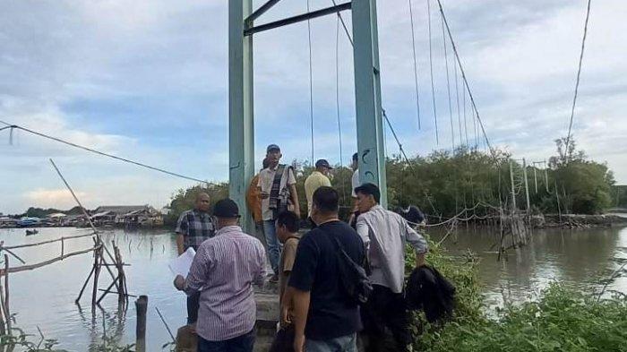 Perbaikan Jembatan Gantung Sungai Burung Tulangbawang Telan Anggaran Rp 1,1 Miliar