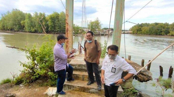 Dibangun Tahun Ini, Jembatan Gantung Sungai Burung Pakai Konstruksi 20 Tiang Pancang