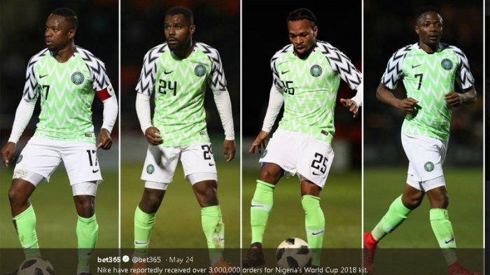 Jersey Timnas Nigeria di Piala Dunia 2018 Laris Manis dan Jadi Buruan
