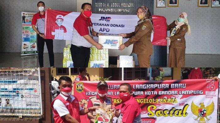 JNE Lampung Berbagi Kebahagiaan di Hari Kemerdekaan RI