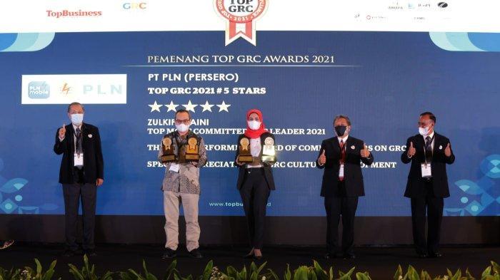 Sukses Kelola Manajemen Risiko, PLN Group Borong 11 Penghargaan TOP GRC Awards 2021