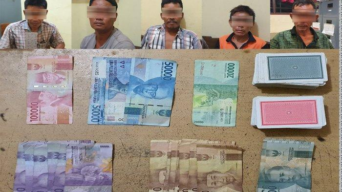 Polres Lampung Barat Ciduk 5 Penjudi di Bengkunat