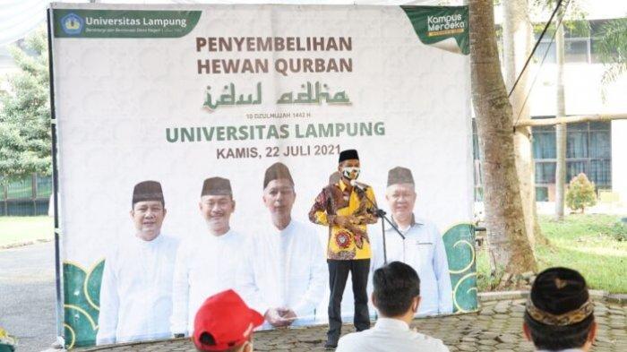Universitas Lampung Salurkan 29 Ekor Hewan Kurban