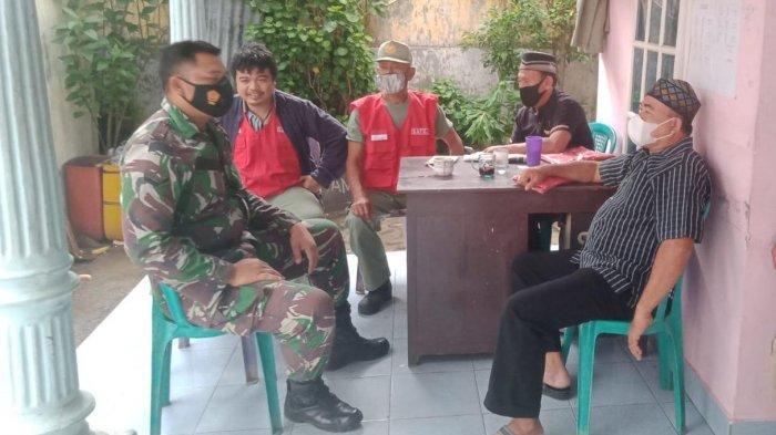 Cegah Penyebaran Covid, Koramil 410-05/TKP Rutin Edukasi Prokes Warga Binaanya