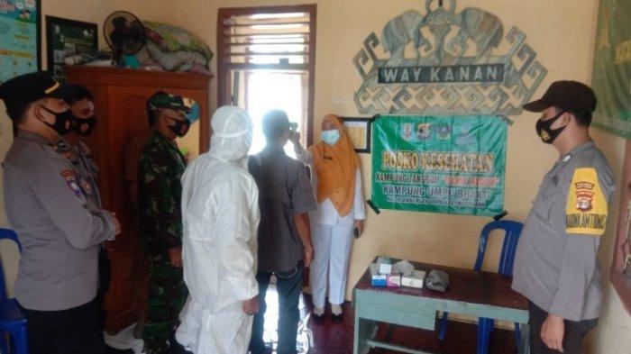 Kanit Bintibmas Resmikan Kampung Tangguh di Kampung Umpu Bhakti Way Kanan
