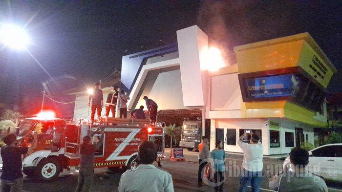 Kantor Common Center Polresta Bandar Lampung Terbakar, Api Cepat Dipadamkan