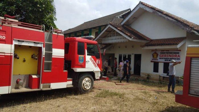 Kantor DPC Gerindra Metro Nyaris Dilalap si Jago Merah, Ini Dugaan Penyebabnya