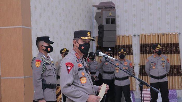 Kapolda Mutasi Jabatan Perwira, Tiga Kasat Polres Lampung Timur Diganti