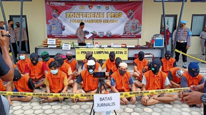Polres Lampung Selatan 17 Tersangka dari 15 Kasus