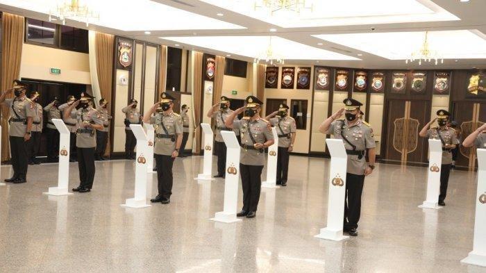 Kapolri Jenderal Idham Azis Lantik Perwira Tinggi Polri.