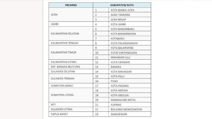 Daftar Kab/Kota di luar Jawa Bali yang akan menerapkan PPKM Level 4