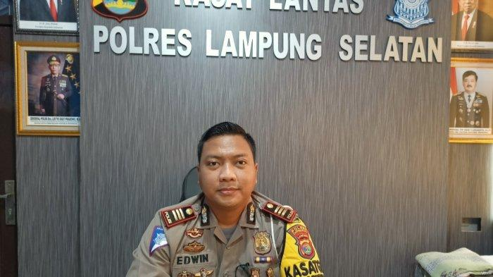 Kasat Lantas Polres Lampung Selatan AKP Edwin Widya Dirotsaha Putra.