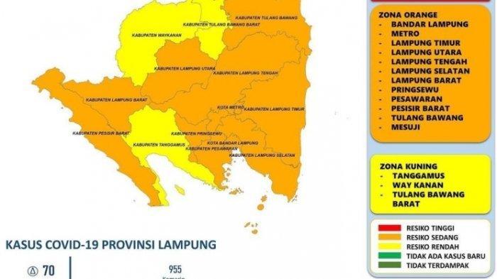 Kasus Baru Covid-19 di Lampung Bertambah 70 Kasus, Pringsewu Sumbang Terbanyak