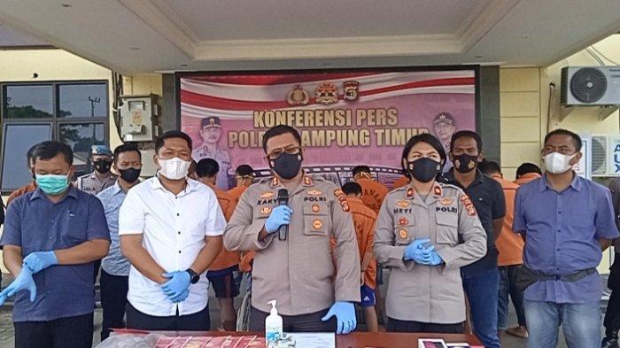 Amankan 15 Tersangka Narkoba, Polres Lampung Timur Sita 258 Butir Obat Hexymer