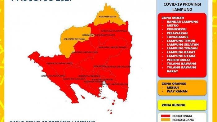 Bertambah 437 Kasus Covid-19 di Lampung, 13 Daerah Zona Merah