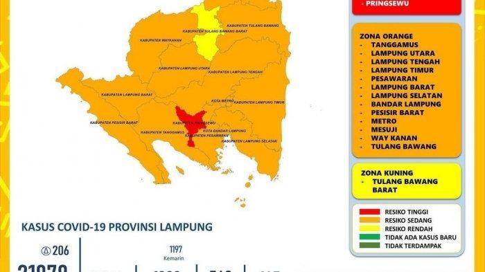 5 Kelurahan dan 4 Desa di Lampung Utara Masuk Zona Merah Covid-19