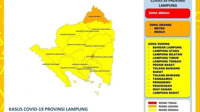Ada 75 Kasus Baru Covid-19 di Lampung, Metro dan Mesuji Masih Zona Oranye
