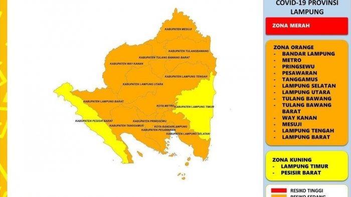 Hari Ini Ada 117 Kasus Baru Covid-19, Lampung Timur dan Pesisir Barat Zona Kuning