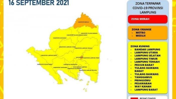 Kasus Covid-19 di Lampung Bertambah 71 Kasus, Lampung Barat Keluar dari Zona Orange