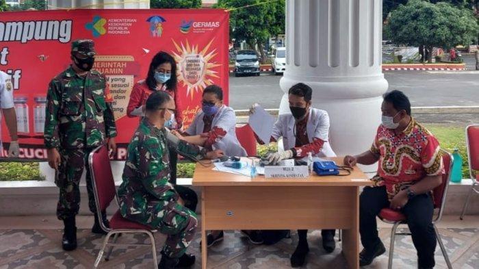 Mayor Inf Andri Kusuma Ikuti Vaksinasi Covid 19 Tahap Pertama di Pemkot Bandar Lampung