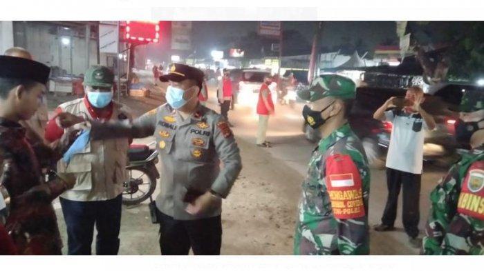 Jelang Libur Lebaran, Koramil 410-04/TKT Rutin Patroli Prokes Hingga Malam Hari