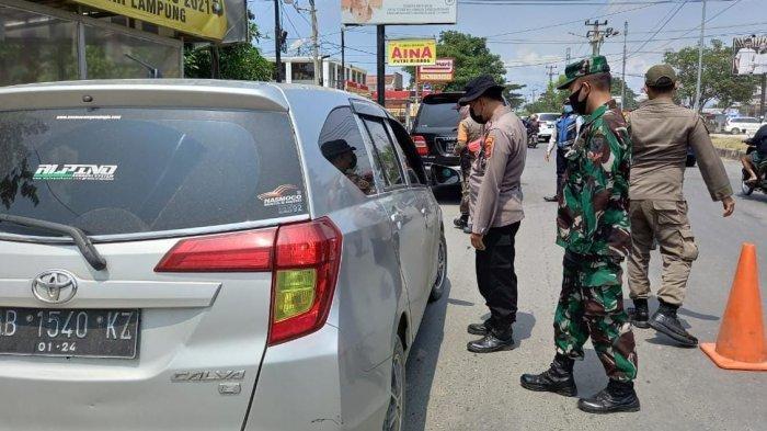 Jelang Libur Lebaran, Kodim 0410/KBL Pantau Kendaraan yang Masuk ke Bandar Lampung