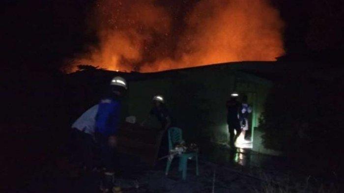 Pabrik Bekatul di Metro Nyaris Ludes Dilalap Api, Kerugian Ratusan Juta