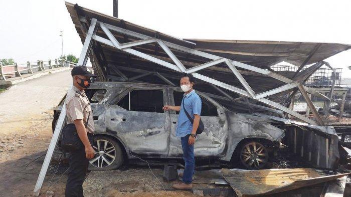 Kebakaran Kantor PT MAMS Tulangbawang, Mobil Fortuner Ikut Ludes
