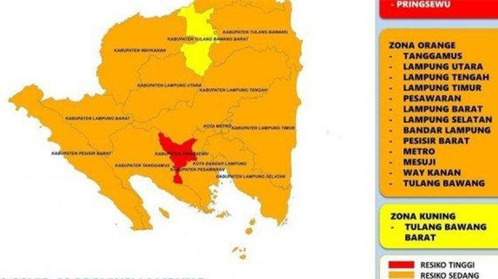 Kecamatan Menggala Lampung Zona Oranye Covid-19, Total Ada 15 Kasus Positif