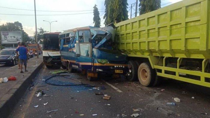 Kecelakaan Beruntun di Natar Lampung, 2 Sopir Dump Truk yang Sempat Kabur Menyerahkan Diri ke Polisi