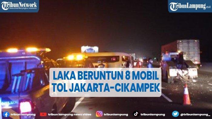 Delapan Kendaraan Terlibat Kecelakaan Beruntun Tol Jakarta-Cikampek