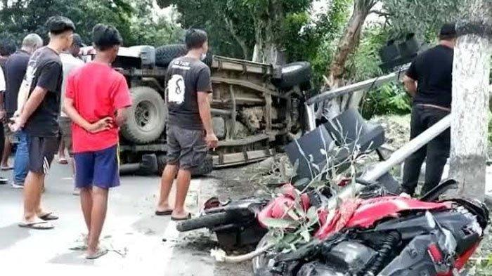 Kecelakaan Maut, 2 Pengendara Motor Tewas Ditabrak Mobil