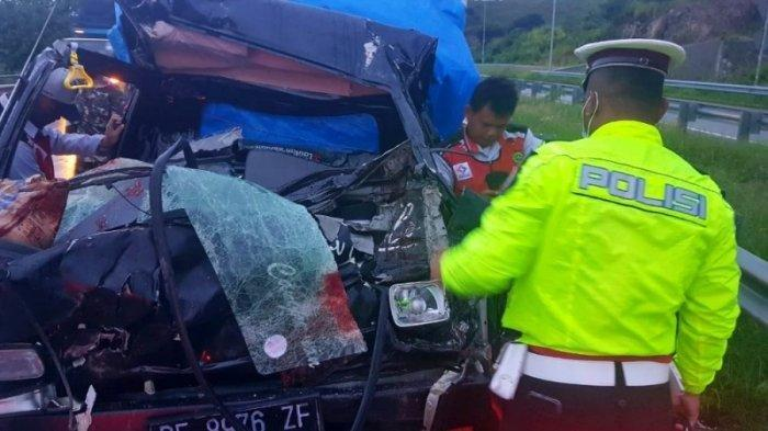 Kecelakaan Maut di Tol Lampung, Pikap Tabrak Tronton, 1 Tewas 1 Luka Berat