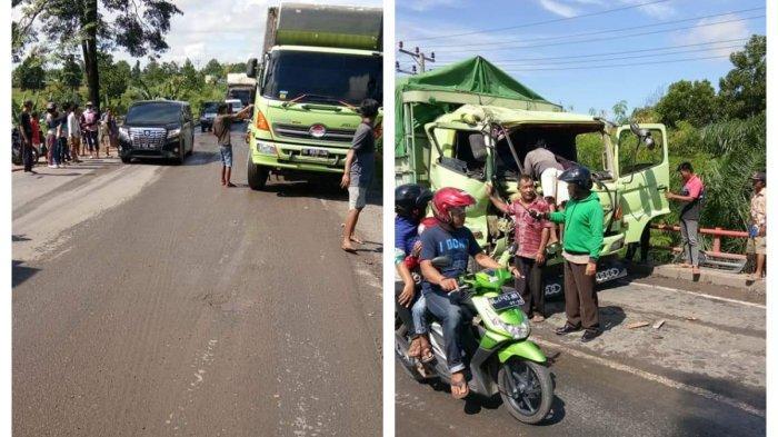 Truk Tabrak Mobil Box di Mesuji, Tubuh Sopir Tergencet Bodi Depan