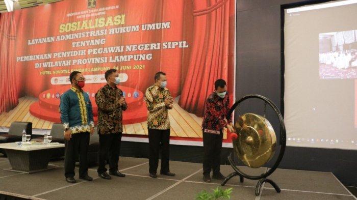 Kanwil Kemenkumham Lampung Sosialisasi Layanan Administrasi Hukum Umum ke PPNS